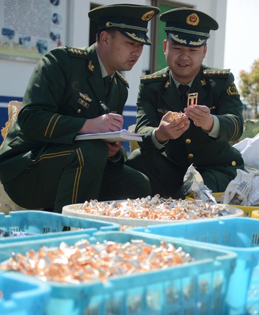 福建宁德桐城边防派出所破获一起非法制造商标标识案