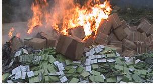宁德集中销毁一批假冒口香糖 涉案金额逾800万元