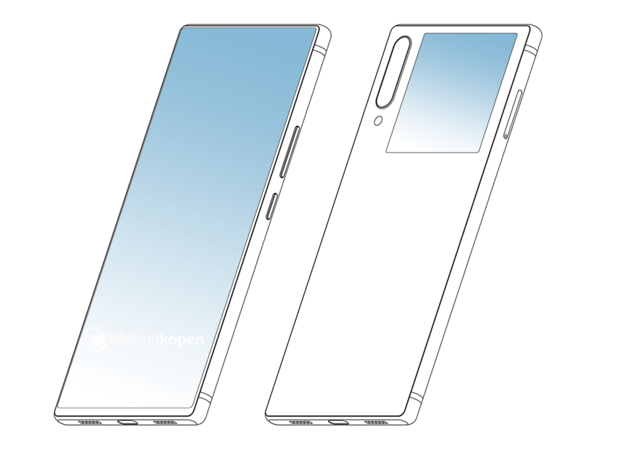 中兴双面屏外观专利曝光: 副屏辅助后置秒变前置