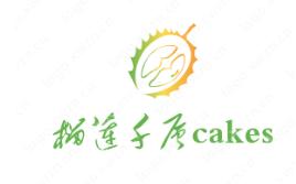 符合店鋪類型主題的蛋糕logo設計【榴蓮千層cakes】非常直白