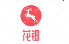"""以紅色為主的""""花鈿""""logo設計 文雅好看"""